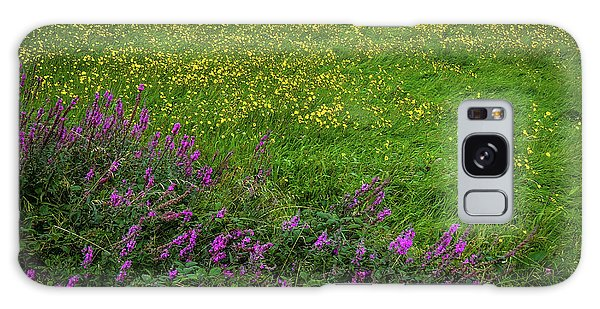 Galaxy Case featuring the photograph Wildflowers In An Irish Field by James Truett