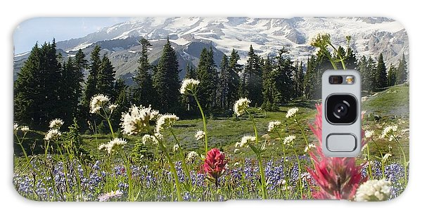 Wildflowers In Mount Rainier National Galaxy Case