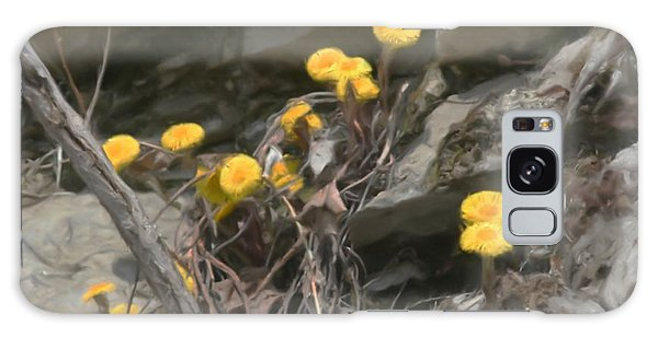 Wildflowers In Rocks Galaxy Case