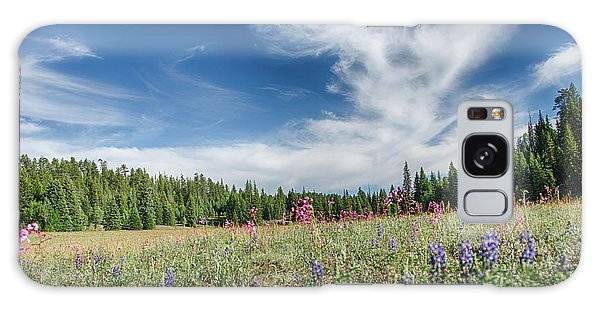 Wildflowers Reach For The Sky Galaxy Case