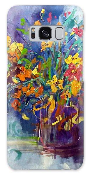 Wildflowers Galaxy Case by Terri Einer