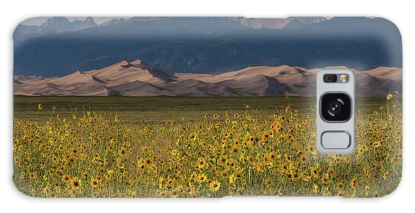 Sangre De Cristo Galaxy S8 Case - Wild Sunflowers Shine In The Grasslands Of The Great Sand Dunes N by Bridget Calip