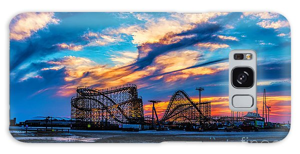 Wildwood Beach Sunset Galaxy Case