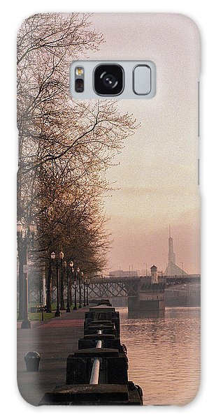 Galaxy Case featuring the photograph Willamette Riverfront, Portland, Oregon by Frank DiMarco