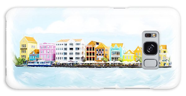 Willemstad Curacao Skyline Galaxy Case