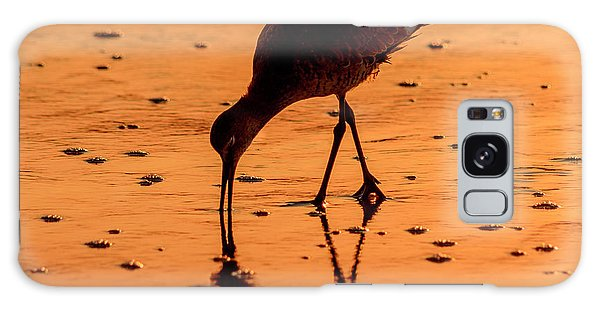 Galaxy Case featuring the photograph Willet On Sunrise Surf by Steven Sparks