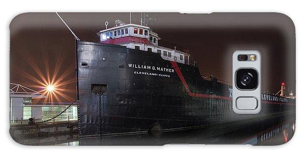 William G Mather At Night  Galaxy Case