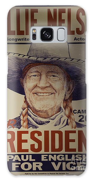 Willie For President Galaxy Case