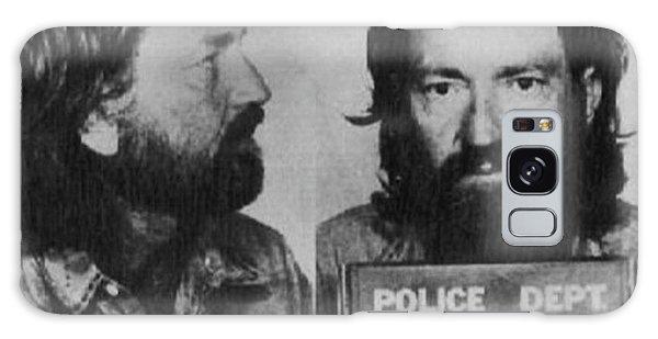 Willie Nelson Mug Shot Horizontal Black And White Galaxy Case