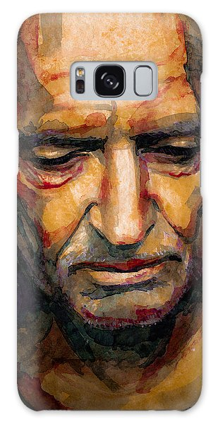 Willie Nelson Portrait 2 Galaxy Case