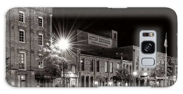 Wilmington Cotton Exchange At Night In Black And White Galaxy Case