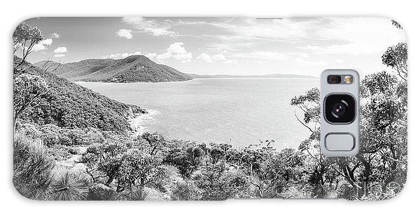 Wilsons Promontory Galaxy Case - Wilsons Promontory Panorama Black And White by Tim Hester