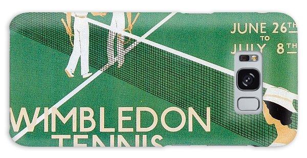 Wimbledon Tennis Southfield Station - London Underground - Retro Travel Poster - Vintage Poster Galaxy Case