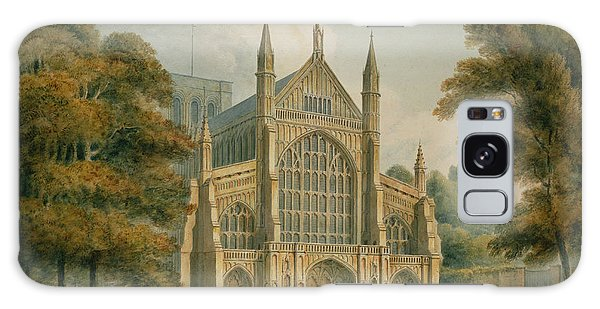 Place Of Worship Galaxy Case - Winchester Cathedral by John Buckler