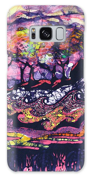 Wind And Waves Galaxy Case