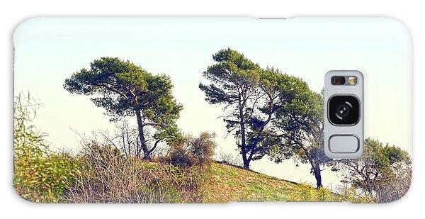 Wind Blown Trees Galaxy Case