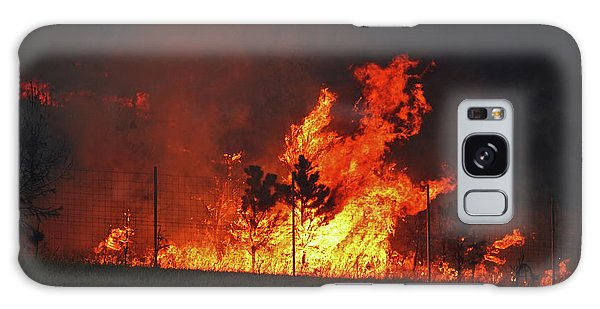 Wildfire Flames Galaxy Case