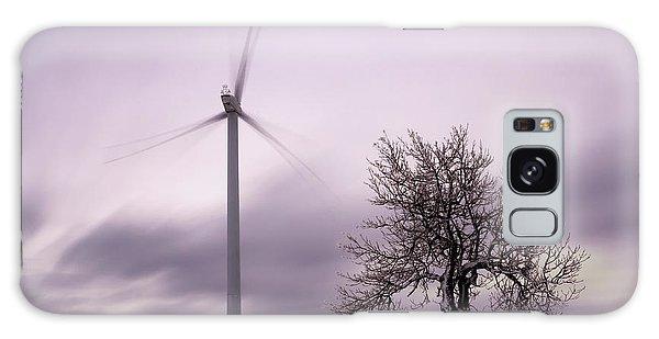 Wind Power Station, Ore Mountains, Czech Republic Galaxy Case