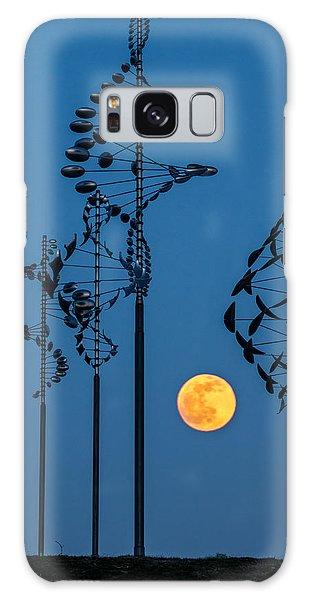 Wind Sculptures At Wilkeson Pointe Galaxy Case