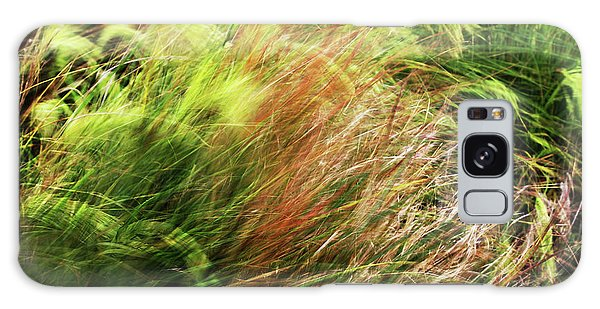 Windblown Grasses Galaxy Case by Nareeta Martin