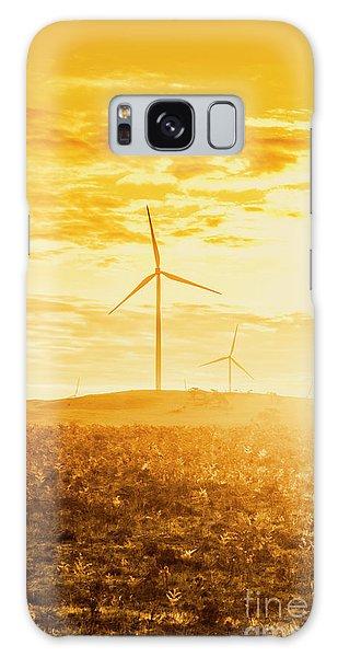 Wind Power Galaxy Case - Windfarm Sunset by Jorgo Photography - Wall Art Gallery