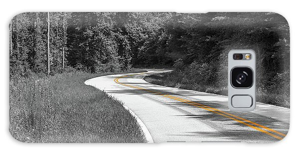 Galaxy Case featuring the photograph Winding Country Road In Selective Color by Doug Camara