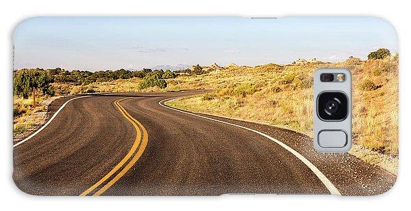 Winding Desert Road At Sunset Galaxy Case