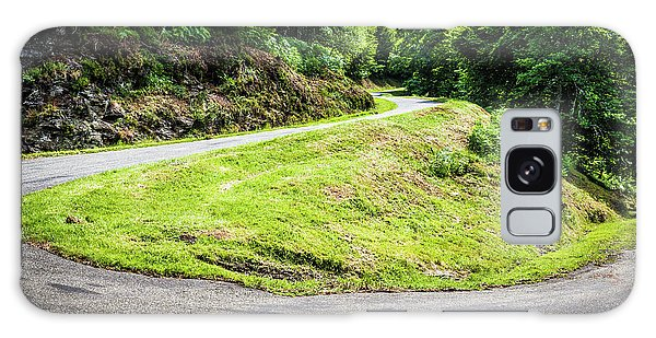 Winding Road With Sharp Bend Going Up The Mountain Galaxy Case by Semmick Photo