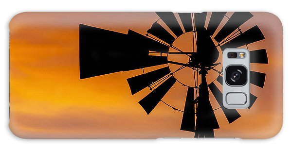 Windmill And Clouds Galaxy Case
