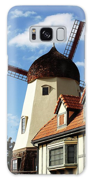 Windmill At Solvang, California Galaxy Case