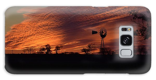 Windmill At Sunset Galaxy Case by Mark McReynolds