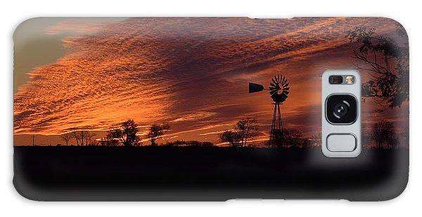 Windmill At Sunset Galaxy Case