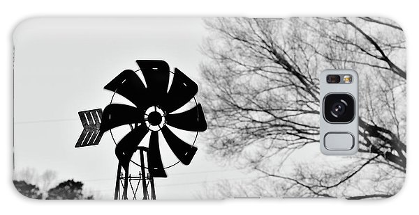 Windmill On The Farm Galaxy Case