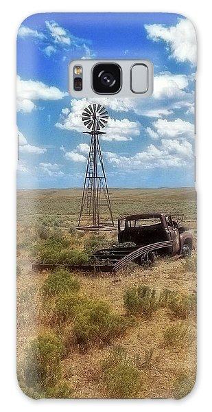 Windmill Over Lenzen Galaxy Case