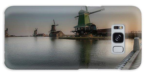 Windmill Sunrise Galaxy Case