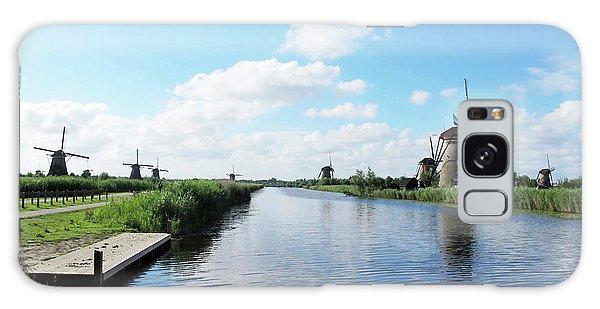 Windmills In Kinderdijk Holland Galaxy Case