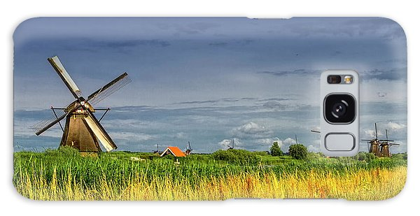 Windmills In Kinderdijk, Holland, Netherlands Galaxy Case by Elenarts - Elena Duvernay photo