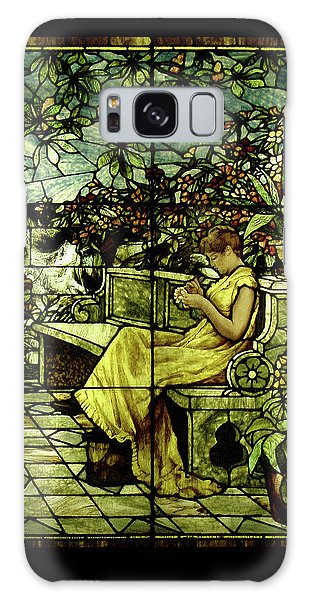 Window - Lady In Garden Galaxy Case