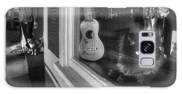 Window Cat Galaxy Case