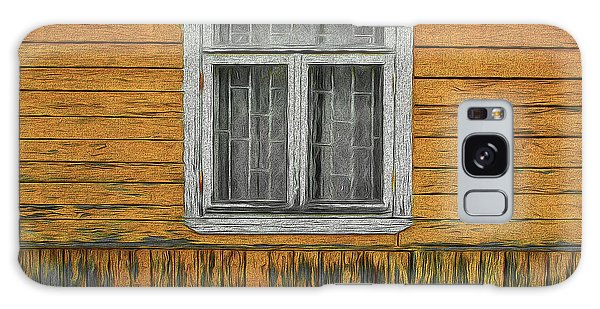 Window In The Old House Galaxy Case