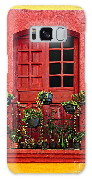 House Galaxy Case - Window On Mexican House by Elena Elisseeva