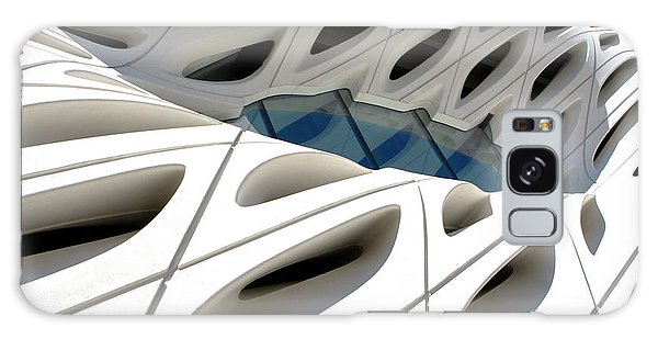 Galaxy Case featuring the photograph Window Pool At The Broad by Lorraine Devon Wilke