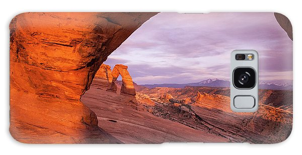 Galaxy Case featuring the photograph Window To Arch by Wesley Aston
