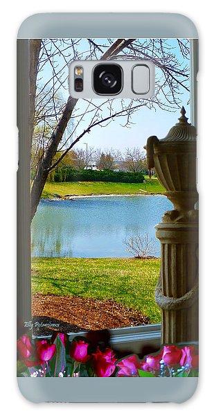 Window View Pond Galaxy Case