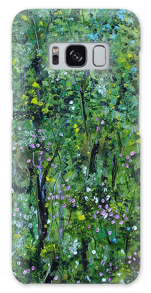 Galaxy Case featuring the painting Windsor Way Woods by Judith Rhue