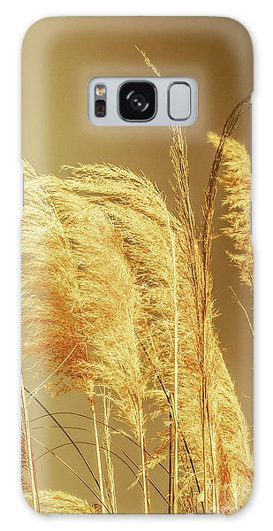 Windswept Autumn Brush Grass Galaxy Case
