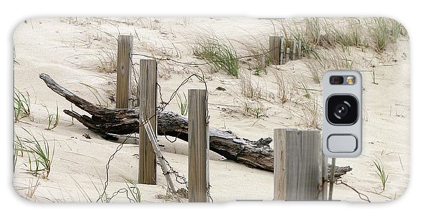Windswept Beach Fence Cape Cod Massachusetts Galaxy Case