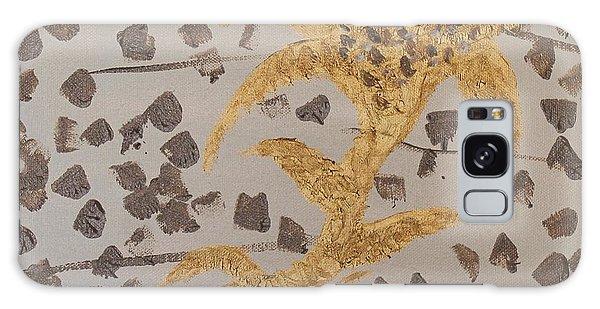 Windswept Golden Plantae #4 Galaxy Case by Rachel Hannah