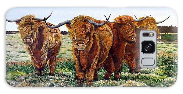 Windswept Highland Cattle  Galaxy Case