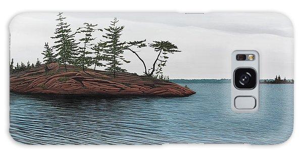Windswept Island Georgian Bay Galaxy Case